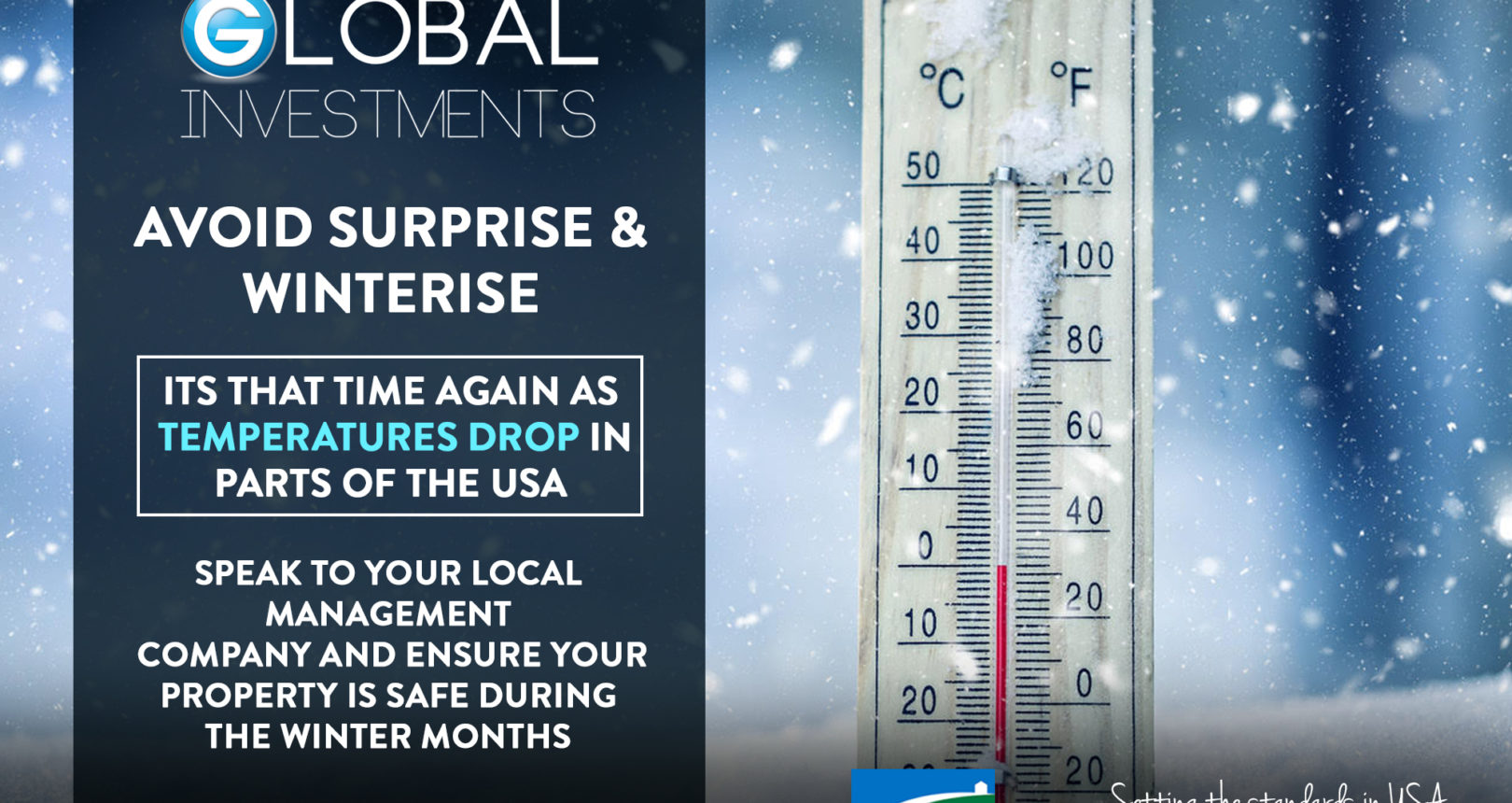 IT IS  THAT TIME AGAIN AS TEMPERATURES DROP IN PARTS OF THE USA.